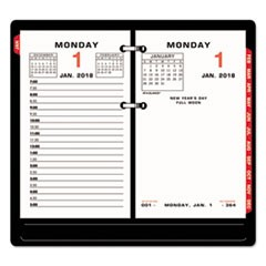 Two-Color Desk Calendar Refill, 3 1/2 x 6, 2018