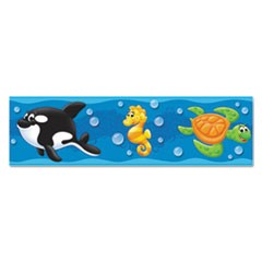 "Bolder Borders, 11 panels, 2 3/4"" x 39"", Sea Buddies"