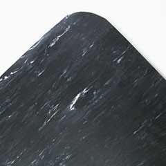 Cushion-Step Surface Mat, 36 x 60, Marbleized Rubber, Black