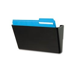 DocuPocket Stackable Wall Pocket, Plastic, Letter, 13 x 4 x 7, Black