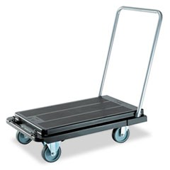 Heavy-Duty Platform Cart, 500lb Capacity, 20 9/10w x 32 5/8d x 9h, Black