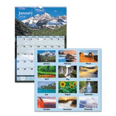 Scenic Monthly Wall Calendar, 15 1/2 x 22 3/4, 2019