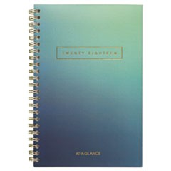 Aurora Day Weekly/Monthly Planners, 4 1/2 x 8, Blue Ombre, 2018, 12-Month