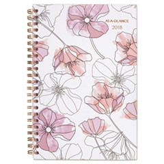 Blush Weekly Monthly Planner, 8 x 4 7/8, Pink