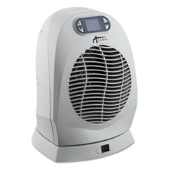 "Digital Oscillating Fan-Forced Heater, 9"" x 8"" x 12 1/4"", Cool Gray"