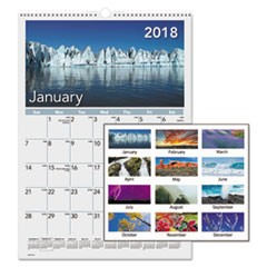 Mother Nature Monthly Wall Calendar, 12 x 17, 2018