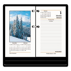 Photographic Desk Calendar Refill, 3 1/2 x 6, 2018