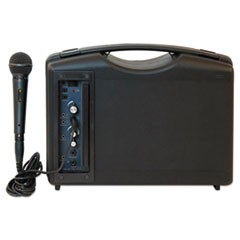 Bluetooth Audio Portable Buddy with Wired Mic, 50W, Black