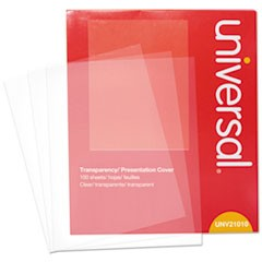 Transparent Sheets, B&W Laser/Copier, Letter, Clear, 100/Pack