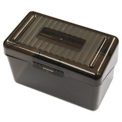 "Plastic Index Card Boxes, 3"" x 5"", Translucent Black"