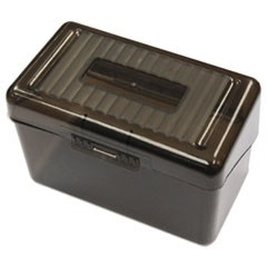 "Plastic Index Card Boxes, 4"" x 6"", Translucent Black"