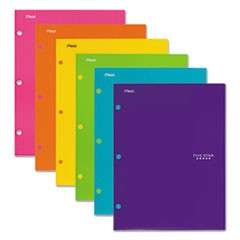 Four-Pocket Portfolio, 8 1/2 x 11, Assorted Colors, Trend Design, 4/Pack