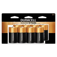 CopperTop Alkaline Batteries, D, 8/PK