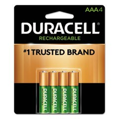 Rechargeable StayCharged NiMH Batteries, AAA, 4/PK