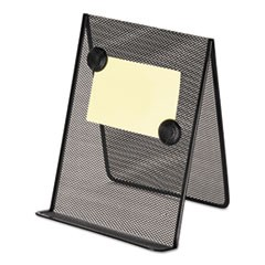 Metal Mesh Document Holder, 9 x 8 5/8 x 11 3/8, Free Standing, Black