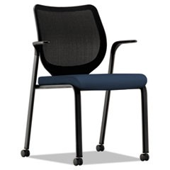 Nucleus Multipurpose Stacking Chair, ilira-Stretch M4 Back, Navy