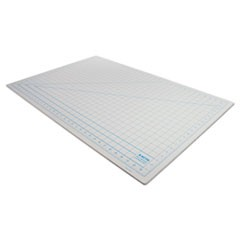 "Self-Healing Cutting Mat, Nonslip Bottom, 1"" Grid, 24 x 36, Gray"