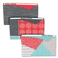 Write-On Fashion Poly File Jackets, Letter, Polypropylene, Assorted, 6/PK