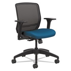 Quotient Series Mesh Mid-Back Task Chair, Peacock
