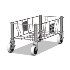 "Slim Jim Steel Dolly, 100 lbs, 20"" x 9.3"" x 9"", Stainless Steel, 2/Carton"