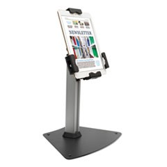 "Tablet Kiosk Desktop Stand for 7"" to 10"" Tablets, Silver"