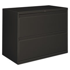 Lateral File, 2 Drawer, 30w x 19.25d x 28.38h, Charcoal