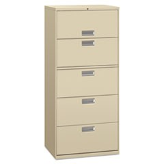 Lateral File, 3 Drawer, 30w x 19.25d x 40.88h, Putty
