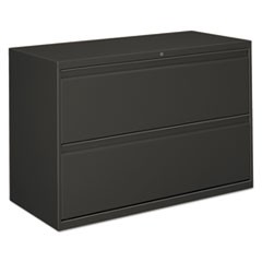 Lateral File, 2 Drawer, 42w x 19.25d x 28.38h, Charcoal