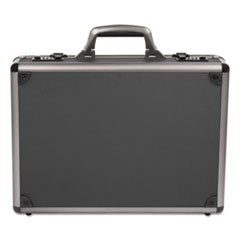 "Itala Aluminum Attache Case, 13"" x 5"" x 18"", Black"