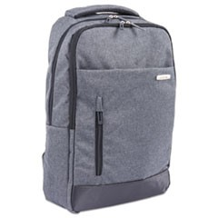 "Ryan Slim Business BackPack, 18"" x 3.5"" x 13"", Nylon, Charcoal"