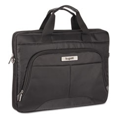 "Nathan Executive Briefcase, 16"" x 2"" x 12"", Ballistic Nylon, Black"