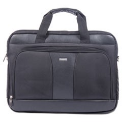 "Gregory Executive Briefcase, 18"" x 9"" x 18"", Nylon/Synthetic Leather, Black"