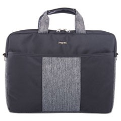 Slim Computer Briefcase, 15.5 x 1.75 x 11.5, Black/Gray