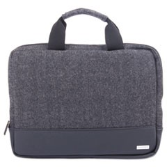 "Matt Laptop Sleeve, 10"" x 1"" x 10"", Polyester, Black/Gray"