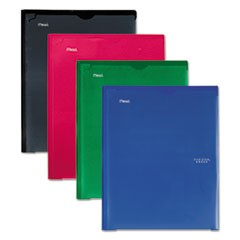 Customizable Pocket/Prong Plastic Folder, 20 Sheets, 8 1/2 x 11, Assorted, 4/Set