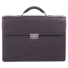 "Sartoria Medium Briefcase, 16.5"" x 5"" x 12"", Leather, Brown"