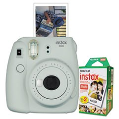 Instax Mini 9 Camera Bundle, w/ (2) AA Batteries;20-Exposure Roll