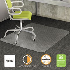DuraMat Moderate Use Chair Mat for Low Pile Carpet, 36 x 48, Rectangular, Clear