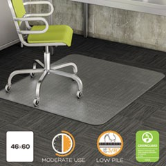 DuraMat Moderate Use Chair Mat, Low Pile Carpet, Roll, 46 x 60, Rectangle, CR