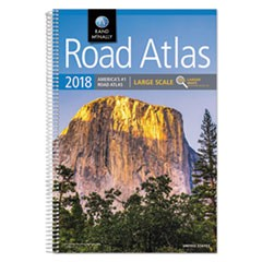 Large Scale Road Atlas, Spiral, 264 Pages, 2018 Edition