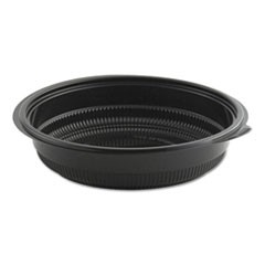 MicroRaves Incredi-Bowl Base, 32 oz, Black, 150/Carton