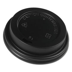 Hot Cup Dome Lids, Fits 8 oz Hot Cups, Black, 1000/Carton