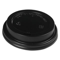 Hot Cup Dome Lids, Fits 10-20 oz Hot Cups, Black, 1000/Carton