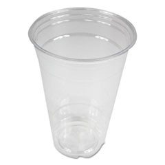 Clear Plastic Cold Cups, 20 oz, PET, 1000/Carton