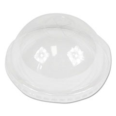 PET Cold Cup Dome Lids, Fits 16-24 oz Plastic Cups, Clear, 2500/Carton