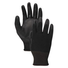 PU Palm Coated Gloves, Black, Size 10 (X-Large), 1 Dozen