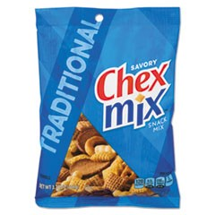 Chex Mix, Traditional Flavor Trail Mix, 3.75oz Bag, 8/Box