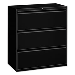 Lateral File, 3 Drawer, 30w x 19.25d x 40.88h, Black