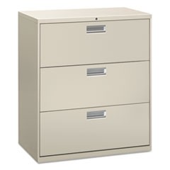 Lateral File, 3 Drawer, 36w x 19.25d x 40.88h, Light Gray