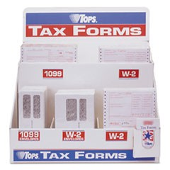 Six-Part W-2 Tax Form Floor Display, Plastic